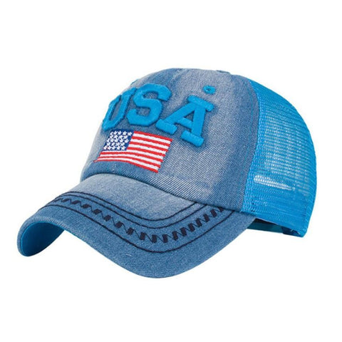 USA American Flag Baseball Caps - PB and Apple Jelly