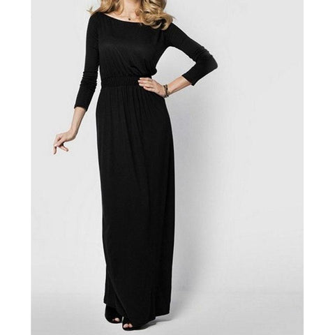 Cinched Waist Maxi Dress (US Sizes 4-12)