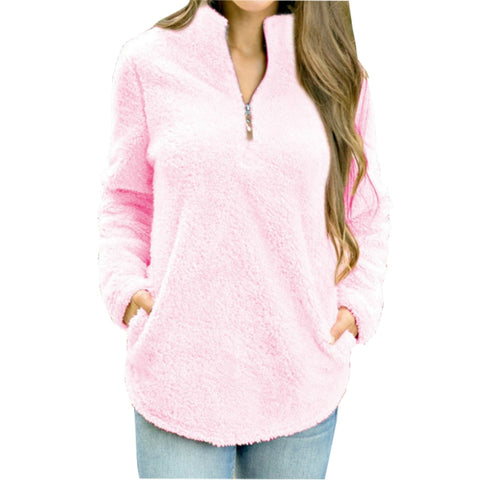 Super Soft Fluffy Pullover with Zipper (US Sizes S-XL)