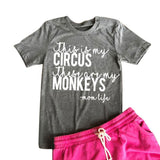 My Circus My Monkeys T-Shirt (US Sizes XS-L) - PB and Apple Jelly