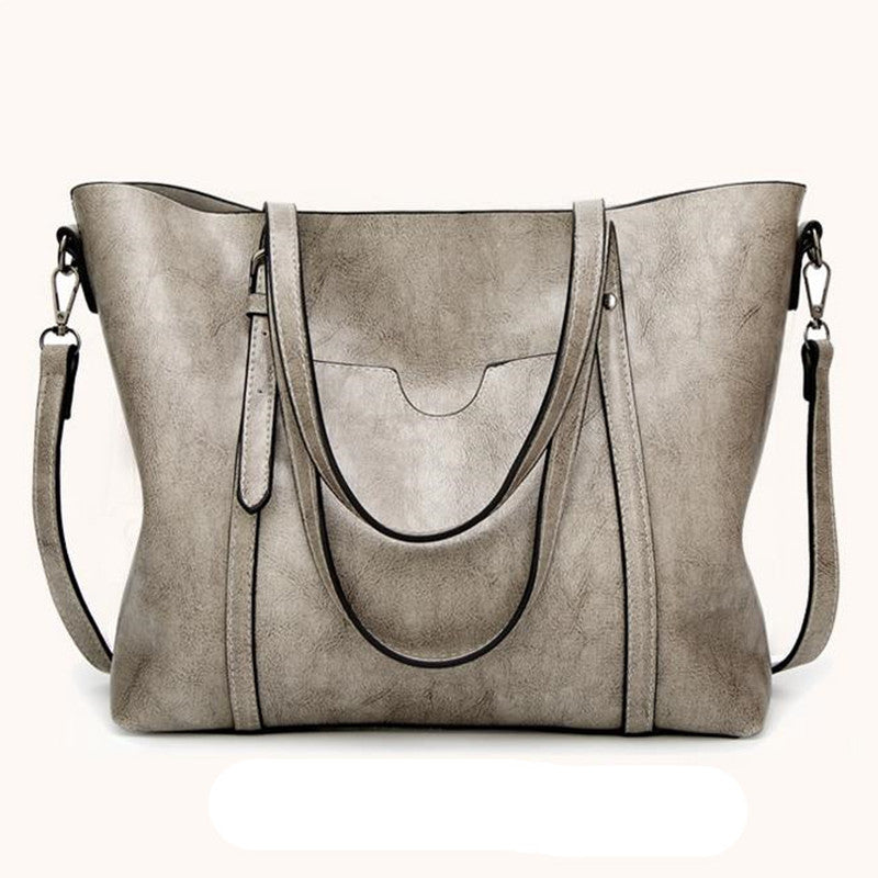 0c556221e6 Large Oil Waxed Leather Tote Bags - PB and Apple Jelly. Tap to expand