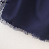 Stylish Tulle Pleated Midi Skirts (Stretch up to 39.37 Inches)