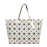 Large Geometric Fashion Tote Bags - PB and Apple Jelly