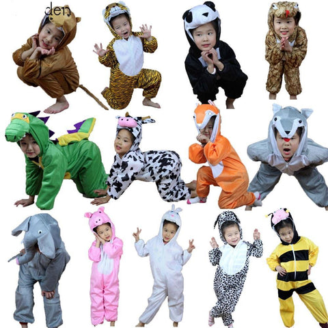 Animal Costume Hooded Jumpsuits  (For ages 1.5-7)