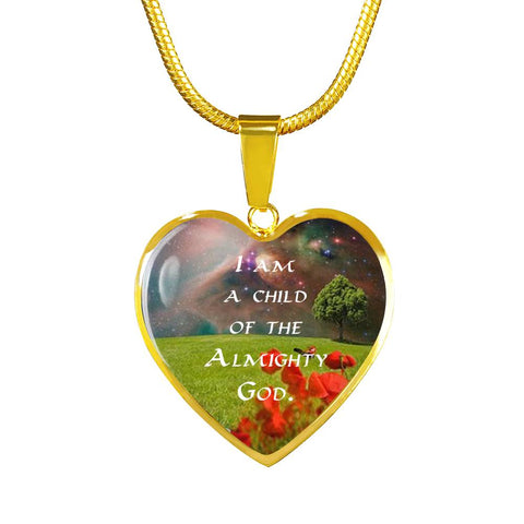 """I Am a Child"" Luxury Necklace and Heart Pendant - Colorful"