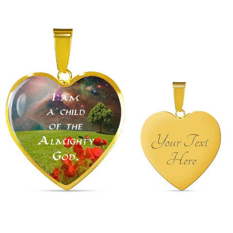 "Image of ""I Am a Child"" Luxury Necklace and Heart Pendant - Colorful - PB and Apple Jelly"