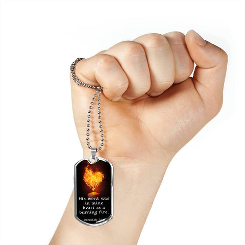 """His Word Was in Mine Heart"" Luxury Military Necklace"