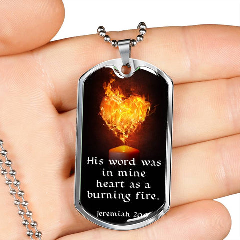 "Image of ""His Word Was in Mine Heart"" Luxury Military Necklace"
