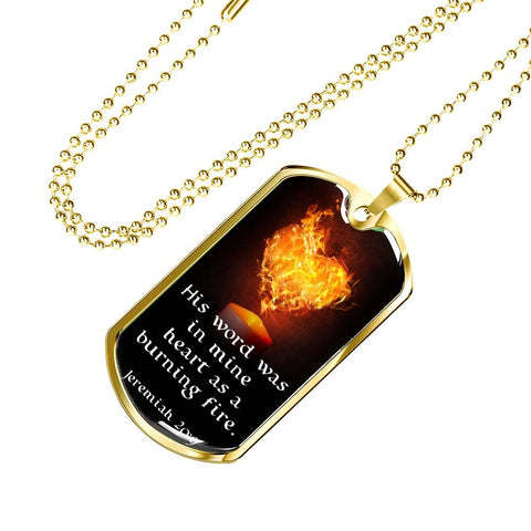 "Image of ""His Word Was in Mine Heart"" Luxury Military Necklace - PB and Apple Jelly"