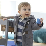 Warm Fleece-Lined Coat with Hood (Sizes 18 months-5) - PB and Apple Jelly