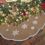 Burlap Snowflake Christmas Tree Skirt - PB and Apple Jelly