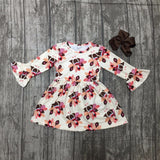 Adorable Turkey Dress with Matching Bow (US Sizes 4T-8)