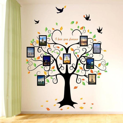 Large 'I Love You Forever' Tree Photo Mural Wall Stickers - PB and Apple Jelly