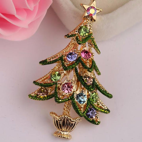 Lovely Christmas Tree Brooches - PB and Apple Jelly