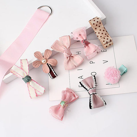 8pcs  Set Multi-style Hair Barrettes