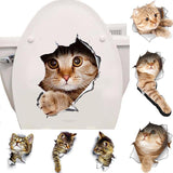 3D Cat/Dog/Mouse Toilet Stickers - PB and Apple Jelly