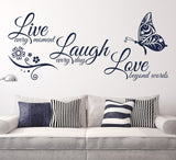 Live Laugh Love with Butterflies Wall Stickers - PB and Apple Jelly