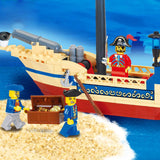 188Pcs Pirate Ship and Mini-Figures