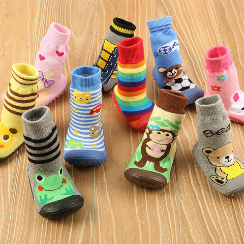 1 Pair Baby/Toddler Anti-Slip Socks with Rubber Soles