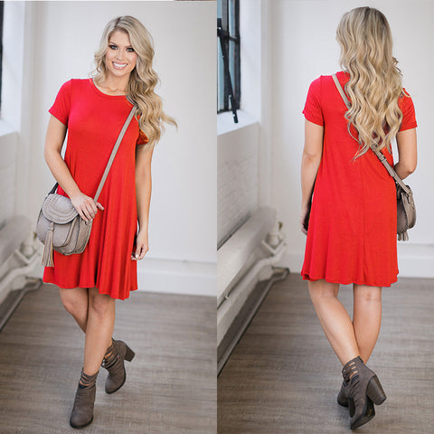 Versatile T-Shirt Dress (Sizes S-XL)