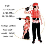 Deluxe Pirate Costumes (Sizes to fit heights of 3.6-4.6FT)