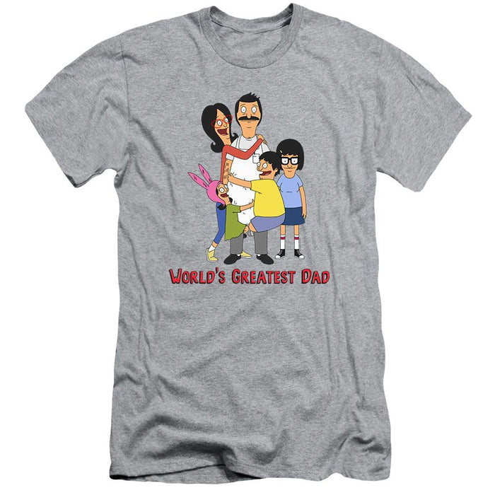 Bob's Burgers World's Greatest Dad Grey T-Shirt