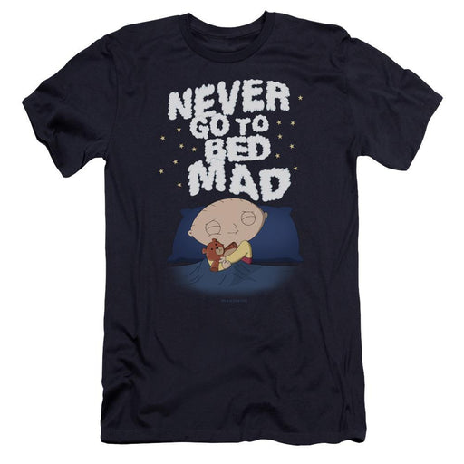 Family Guy Go To Bed Mad Adult Navy T-Shirt