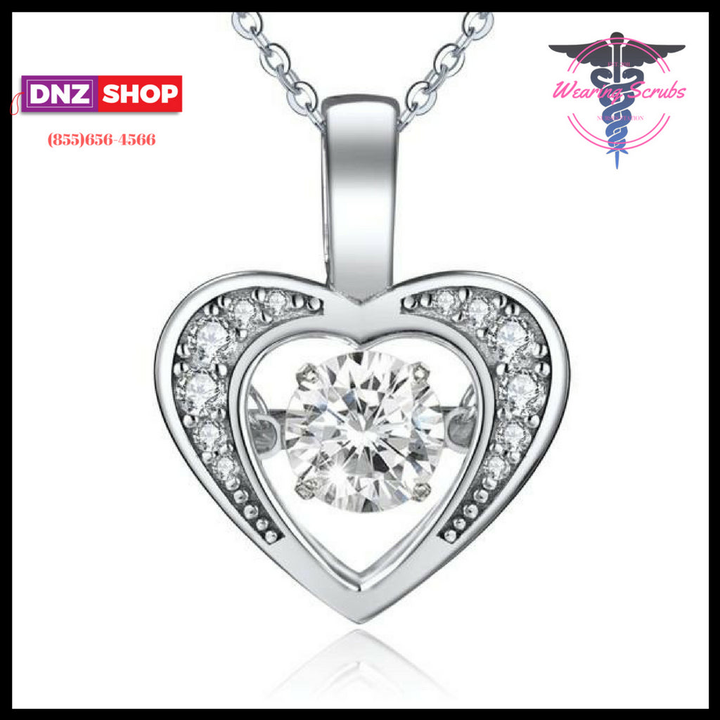 sterling gifts jewellery silver heart necklace mantra love romantic