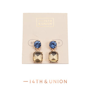 14TH & Union Blue and Gold Earrings