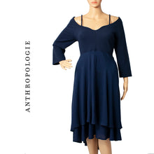 Anthropologie Maeve Navy Blue Party Dress . Size L