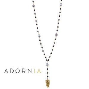 Adornia 14K Gold Plated Sterling Silver Y Necklace