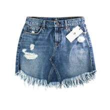 7 For All Mankind Wythe Distressed Denim Skirt Size 26