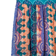 Anthropologie HD in Paris Silk Print Skirt Size Small