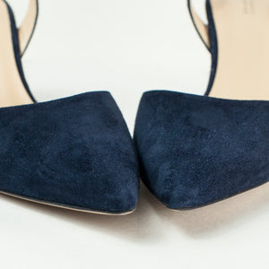 Barneys New York Blue Suede Slingback Pumps . Size 39.5