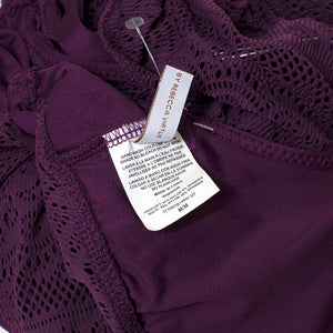 Becca by Rebecca Virtue Modern Purple Lace Suit . Size M