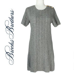 Brooks Brothers Cable Wool Sweater Dress  Size L