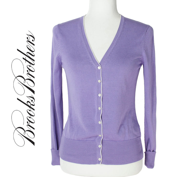 Brooks Brothers Lavender Botton Down Sweater Size XS