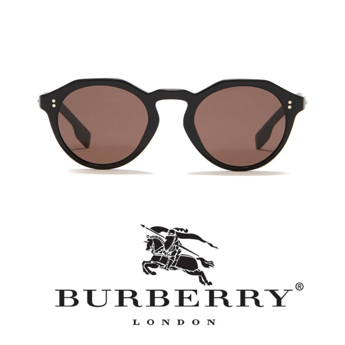 Burberry Brown Round Sunglasses