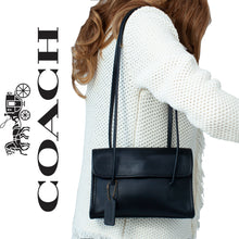 Coach VINTAGE Laurie Flap Black Bag Made In USA