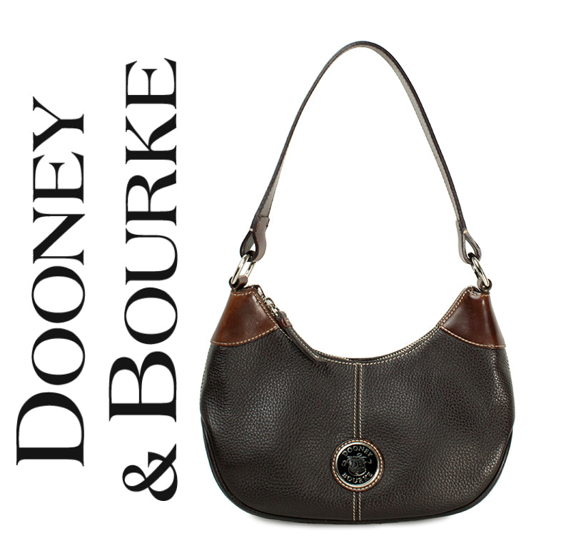 Dooney & Bourke Vintage Brown Leather Shoulder Bag