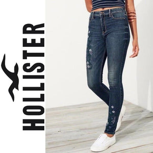 Hollister High Rise Super Skinny Embroidered Jeans . Size 0