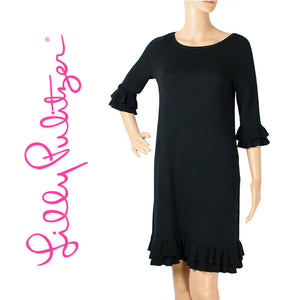 Lilly Pulitzer Black Yardley Wool Sweater Dress . Size S