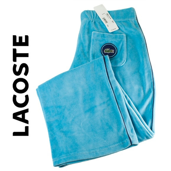 Lacoste Baby Blue Velour Pants Size 6