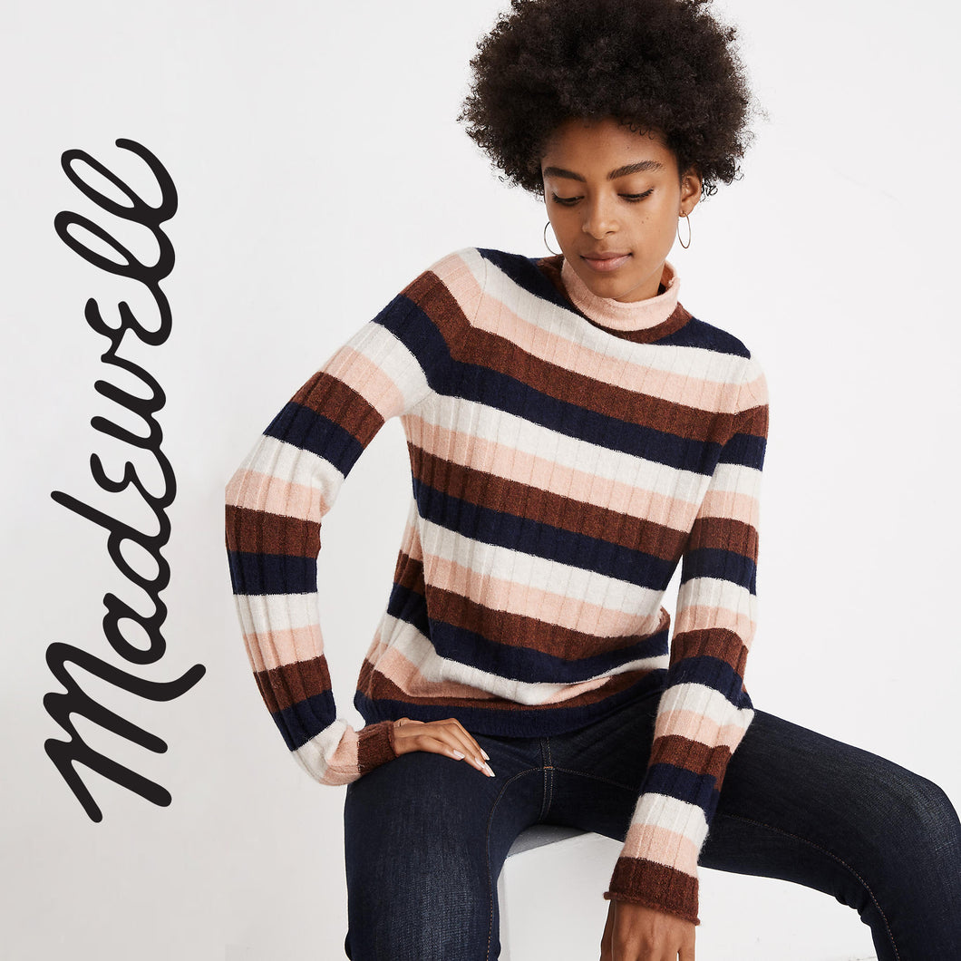 Madewell Striped Turtleneck Sweater . Size S