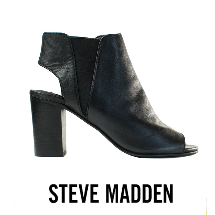 Steve Madden Nobel Peep Toe Leather Bootie Size 9.5