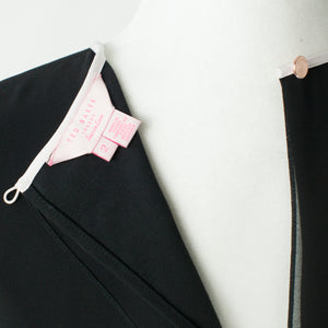 Ted Baker Pink Bow Detail Swing Black Dress Size 2