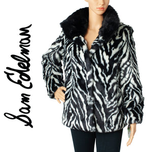 Sam Edelman Reversable Zebra Faux Fur Jacket . Size S