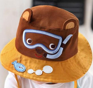 9aec02af1b9 Sunny Snorkeling Bear Toddler Beach Hat – Ten Bay