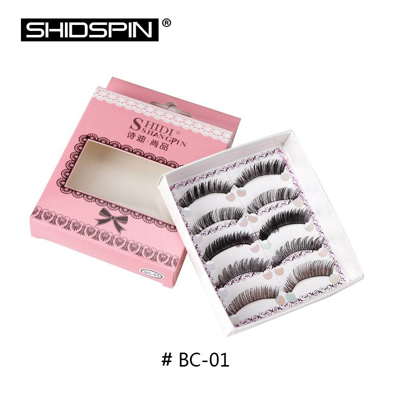 5 Pairs False Eyelashes - Mix of 5 Styles