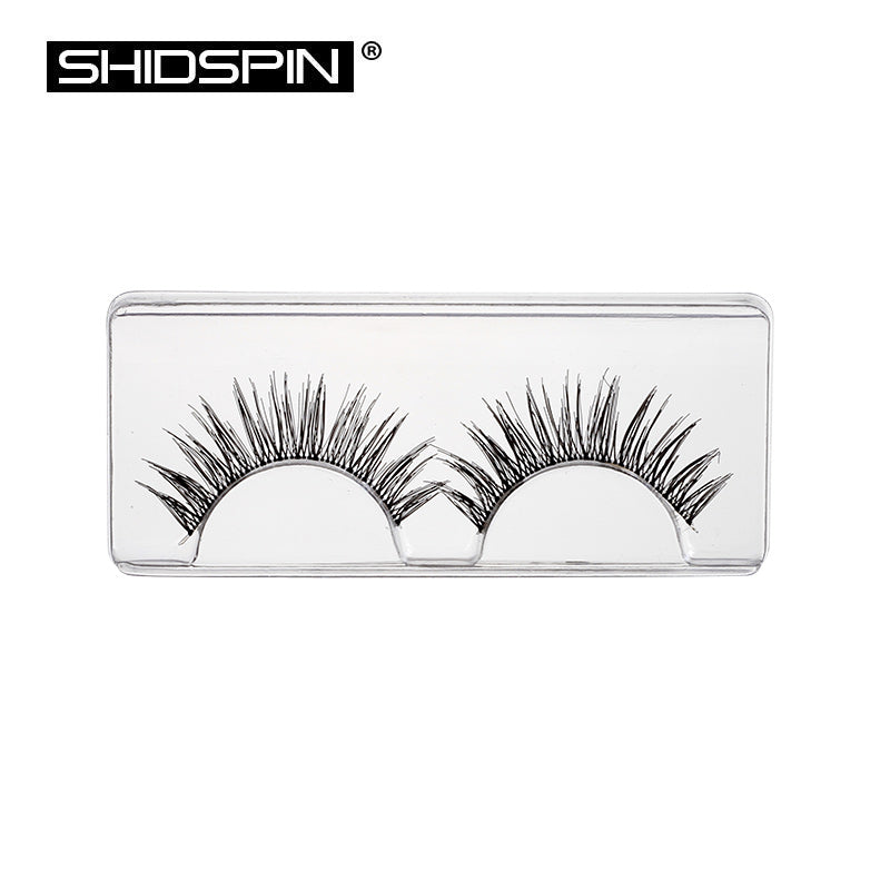 7 Pairs black natural false eyelashes (transparent band)